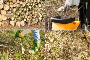 Häckseln von Baum- und Heckenschnittgut